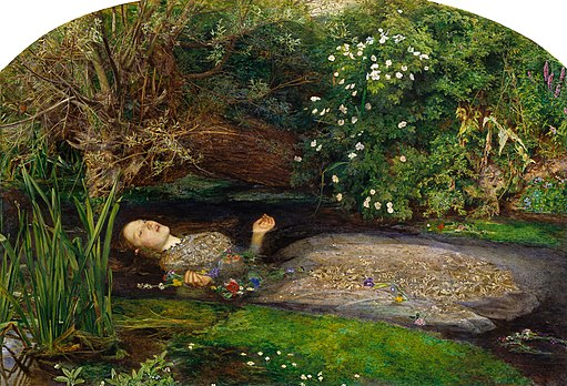 Siddal as Ophelia in John Everett Millais' masterpiece