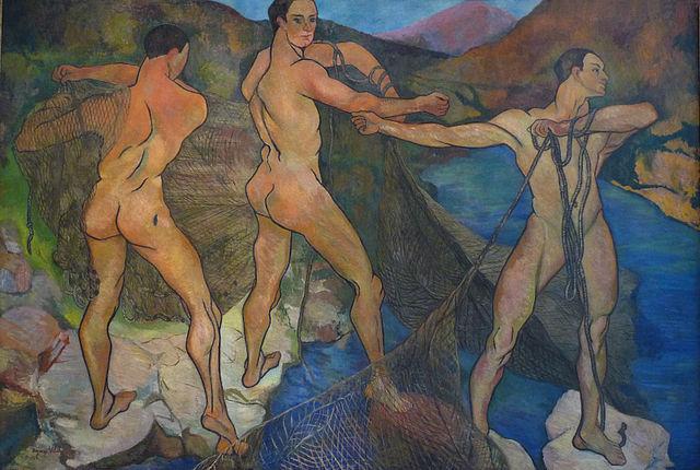 Suzanne Valadon, Le Lancement du filet, huile sur toile, 1914, Musée des beaux-arts de Nancy
