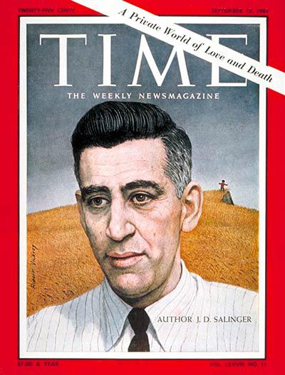 J D Salinger on the cover of Time magazine (September 15, 1961)