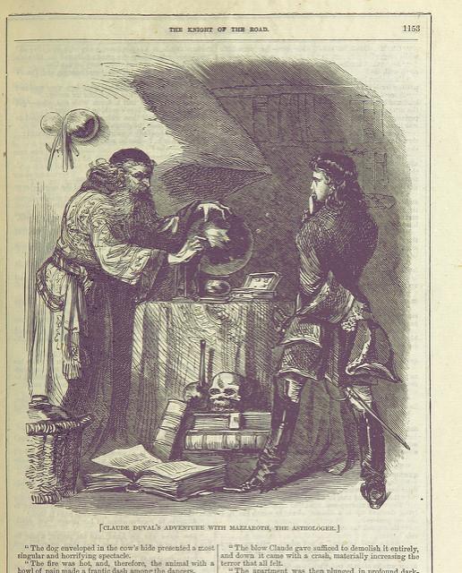 A magician gazes into a crystal ball