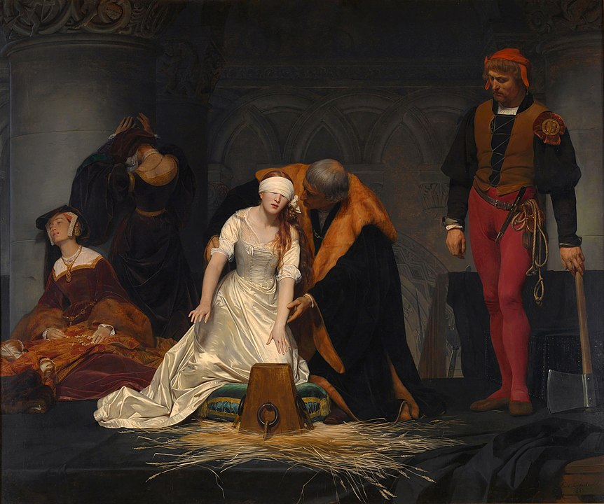Painting of the execution of Lady Jane Grey